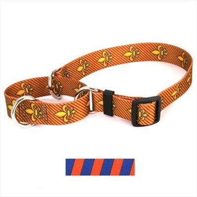 Yellow Dog Design M-TSOB100XS Team Spirit Orange and Blue Martingale Collar - Extra Small