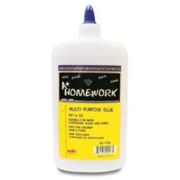 DDI 1192732 Multi Purpose White Glue - 16 oz Case Of 48