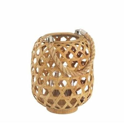 Home Decor Woven Bamboo Lantern