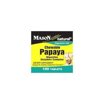 Mason Natural, Chewable Papaya Enzyme, 100 Tablets