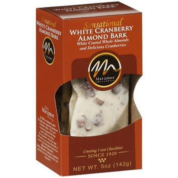 Maramor Chocolates White Cranberry Almond Bark Chocolate, 5 oz