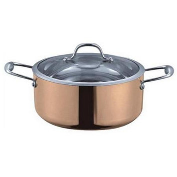 Fancy Cook 5-ply Copper Dutch Oven with Tempered Lid 5 Quart
