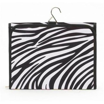 Joann Marie Designs HCBZEP Hanging Cosmetic Bag - Zebra / Fuchsia Pack of 2