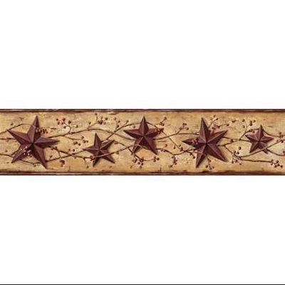 Chesapeake Tin Star With Vines and Berries Wallpaper Border