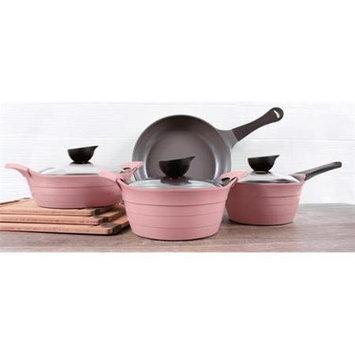 Neoflam 51266 7 Piece Eela Cast Aluminum Cookware Set Pink
