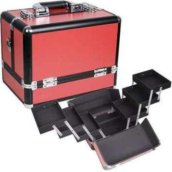 Sunrise C3002PPRD Red Cosmetic Case