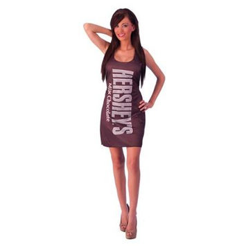 Incogneato Hershey's Milk Chocolate Bar Costume Adult Tank Dress Standard One Size Fits.