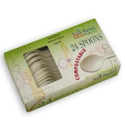 Asean Corporation Asean CPLA-003-R Compostable Spoon Retail