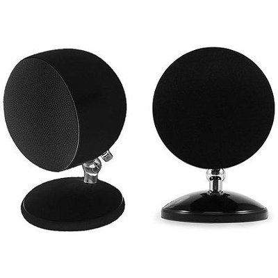 OSD Audio SPHERE1 BLACK HOME SATELLITE SPEAKERS SURROUND SOUND2PAIR