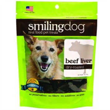 Herbsmith Smiling Dog Dry Roasted Beef Liver Dog Treats 2.5 oz.