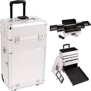 Just Case Sunrise I3163DMSL Silver Diamond Trolley Makeup Case