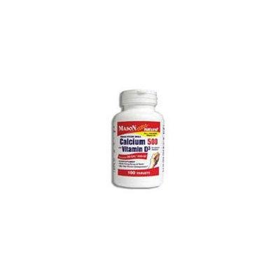 Mason Vitamins Mason Natural Oyster Shell Calcium 500 Mg Tablets with Vitamin D3 - 100 Ea