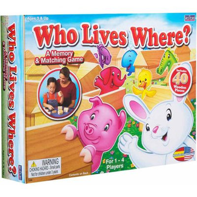 Who Lives Where? by Cadaco