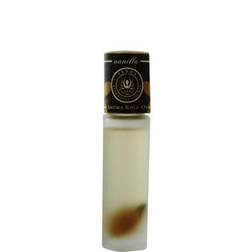 ESSENTIAL OILS TERRA VANILLA AROMA ROLL ON - ESSENTIAL OILS OF VANILLA WITH TIGER EYE GEMSTONES IN JOJOBA OIL .33 OZ for UNISEX
