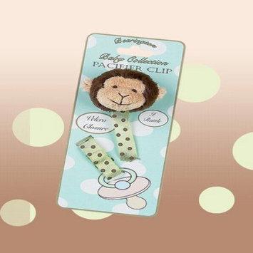 Bearington Baby Plush Giggles Monkey Pacifier Clip