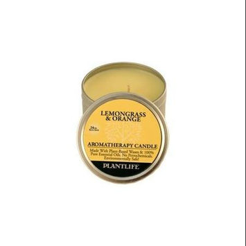 Plantlife Lemongrass & Orange Aromatherapy Candle-Made with 100% Pure Essential Oils - 3oz Tin