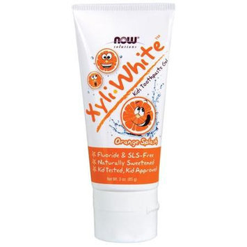 XyliWhite Orange Splash Kids Toothpaste Now Foods 3 oz Gel