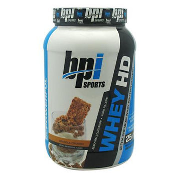 BPI Sports Whey-HD Ultra Premium Whey Protein Powder, Granola Crunch, 2 Pound