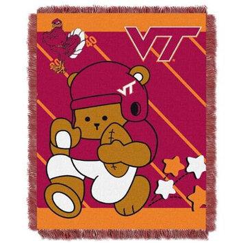 Virginia Tech Hokies NCAA Triple Woven Jacquard Throw (Fullback Baby Series) (36x48)