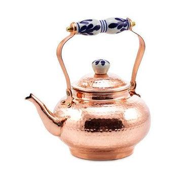 Old Dutch International Hammered Copper & Ceramic Handle 2-Qt. Tea Kettle