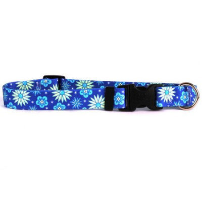 Yellow Dog Design TEF100XS Teal Flowers Standard Collar - Extra Small