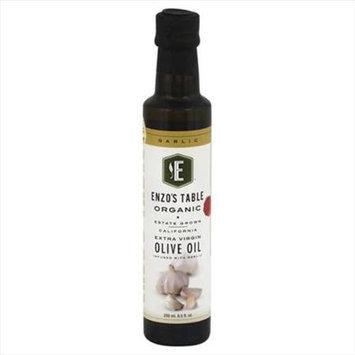Enzo Olive Oil Co 250 ml. Organic Garlic Extra Virgin Olive Oil - Case Of 6