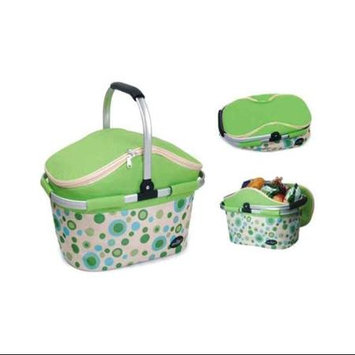 Picnic & Beyond Aluminum Framed Green Empty Picnic Cooler Basket