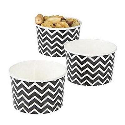 Fun Express 13668135 Paper Black Chevron Snack Bowls