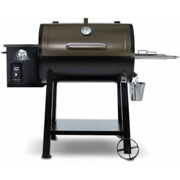 Pit Boss 72440 PB440D Wood Pellet Smoker with 40 000 BTUs 471.75 sq. in. Total Cooking Area Dial-in Digital Control with LED Read-out in Black with Copper Finished