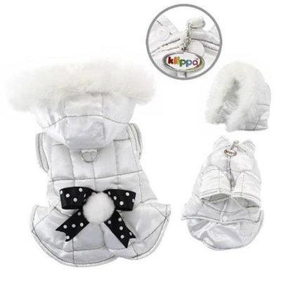 Klippo Pet, Inc Klippo Pet KJK056SZ Snow Princess Parka With Detachable Hood - Small