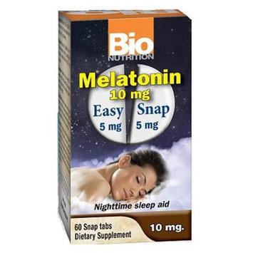Bio-nutrition Bio Nutrition - Melatonin 10 mg. - 60 Easy Snap Tablets