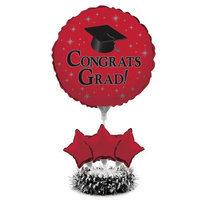 Red Grad Balloon Centerpiece