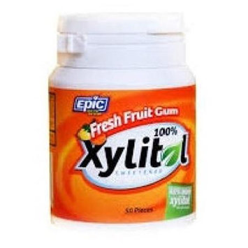 Epic Dental - Xylitol Sweetened Gum Fresh Fruit - 50 Pieces