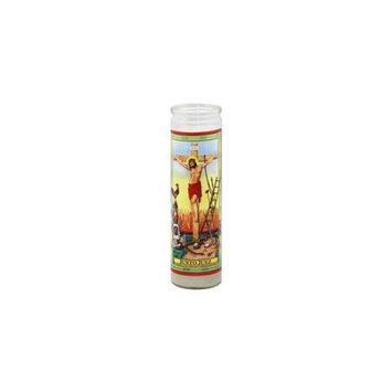 Reed Candle Candle Justo Juez White Wax 1 Ea Case of 12