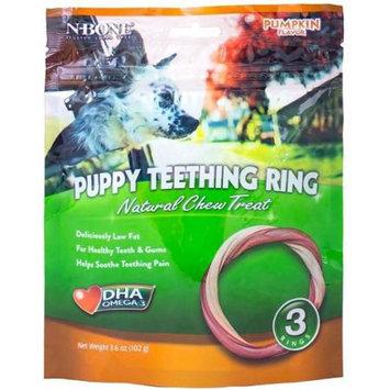 N-Bone Pumpkin Flavor Puppy Teething Rings 3 Pk