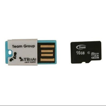 Team Group Team 16GB microSDHC Flash Card w/ USB2.0 Micro SD Card Reader TR11A1 Model TG016G0MC28C