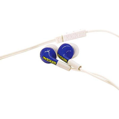 Kicker Noise-Isolating Ear Bud Headphones - Blue