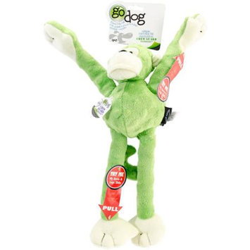 Go Dog Mr Monkey with Chew Guard Technology Lime Green