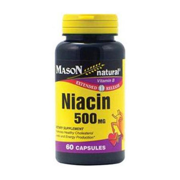 Mason Natural, Niacin 500 mg, Extended Release, 60 Capsules