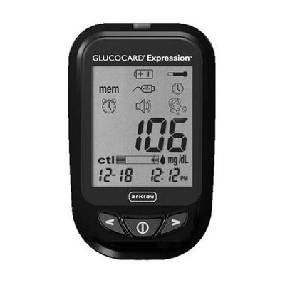 Arkray Glucocard Expression, Audio Enabled (talking) Blood Glucose Monitoring System With Autocode