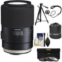 Tamron SP 90mm f/2.8 Di VC USD Macro 1:1 Lens (for Canon EOS Cameras) with 3 UV/CPL/ND8 Filters + Pouch + Tripod + Kit