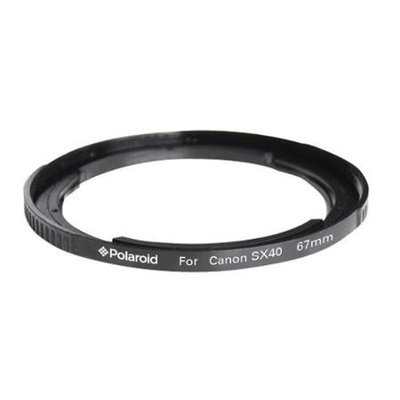 Polaroid 67mm Lens And Filter Adapter Ring For Canon SX40, SX30, SX20