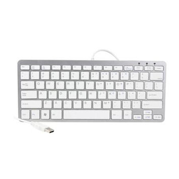iKKEGOL Mini USB Slim Wired 78 Key Small Super Thin Compact Keyboard for Desktop Laptop PC Win 7