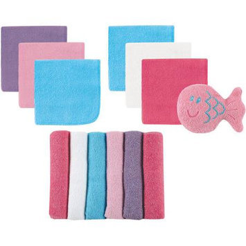 Baby Vision Luvable Friends 12 Washcloths With Bonus Toy, Pink