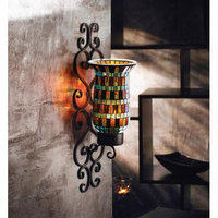 American Atelier Mosaic Glass And Metal Wall Lighting Sconce
