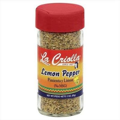 La Criolla 3 oz. Lemon Pepper Seasoning Case Of 12