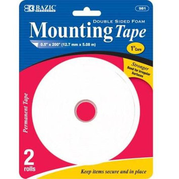 Bulk Buys Bazic Double Sided Foam Mounting Tape