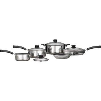Mainstays 9-Piece Nonstick Cookware Set, Polished Aluminum 7084018