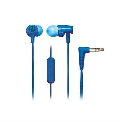 Audio-technica SONICFUEL IN-EAR HEADPHONE BLUE IN-LINE CONTROLS & MIC