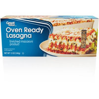 Great Value: Oven Ready Lasagna Enriched Macaroni Product, 12 oz